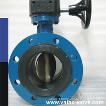 EPDM/NBR/PTFE Seat Grooved Type Butterfly Valve with Gear Operated