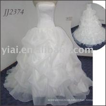 2011 diseño encantador vestido de boda nupcial barato del estilo del vestido de bola del amor de la alta calidad del envío libre elgent 2011 JJ2374