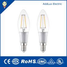Luz fresca de la vela del filamento del blanco LED de 220V 3W E27 SMD