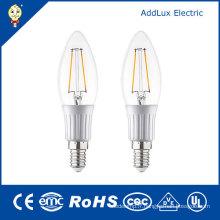 Lumière blanche fraîche de bougie de filament de 220V 3W E27 SMD LED