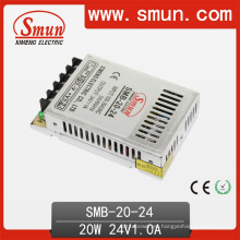 Fuente de alimentación de corriente alterna de caja de plástico ultra delgada de 20W 24V