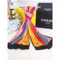 Solid Color Stripe Pattern Acrylic Scarf