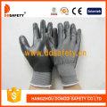 Grey Nylon with Black Nitrile Glove-Dnn468