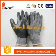 Guante de revestimiento de nitrilo negro-Dnn468