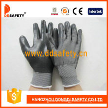 Grey Nylon with Black Nitrile Glove-Dnn468