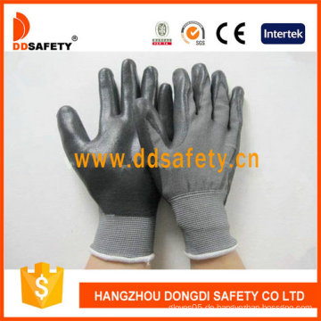 Schwarzer Nitril Coating Handschuh-Dnn468