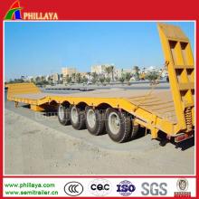 Camion de plate-forme de Lowbed à plat pour la semi-remorque