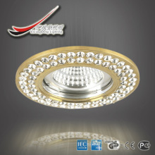 Perfect gold aluminum+clear crystal/ceiling spotlighting.top quality