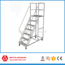 aluminum folding stairs,movable platform ladder,aluminum stair with big platform