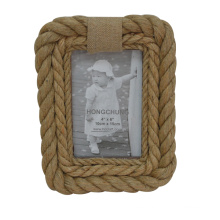 MDF Hemp Rope Picture Frame for Gift