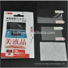 Anti-Film + Voller LCD-Schirm-Schutz für Nintendo 3DS mit Putztuch