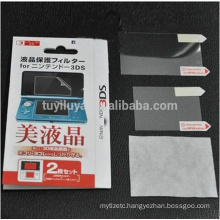 Anti Film + Full LCD Screen Protector For Nintendo 3DS With Cleaning Cloth