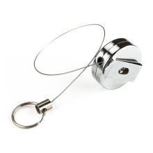 Carrete de insignia retráctil de cable de acero
