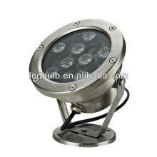IP68 RGB llevó la lámpara subacuática llevó las luces subacuáticas llevó los proyectores subacuáticos