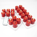 Sans flamme Luminara Votive rechargeable led bougies