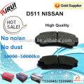 Almohadillas de freno de disco de alta calidad para Nissan partes x-trail