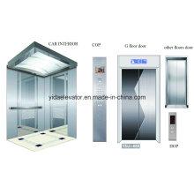 Ascenseur pour passagers avec miroir Gravure en acier inoxydable Car Cabin