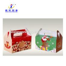 ¡Forma modificada para requisitos particulares! Caja de empaquetado de la torta del regalo de la Navidad de la decoración de la magdalena