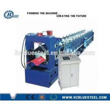 Ampliamente utilizado de color de acero de metal techo Ridge Cap azulejos Cold Roll formando máquina de techo Ridge haciendo la máquina China Hangzhou