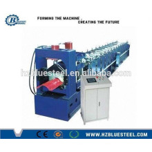 Steel Roof Step Ridge Cap Cold Roll Forming Machine For Sale, Metal Top Ridge Making Machine