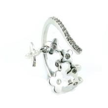 Anillo de la joyería de la plata esterlina del diseño 925 de la flor de la manera de la venta caliente de la mujer (R10355)