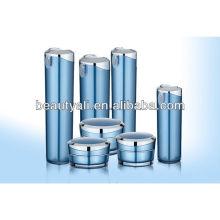 Oblíquo cónico embalaje cosmético envase de acrílico 5ml 10ml 15ml 30ml 50ml 100ml