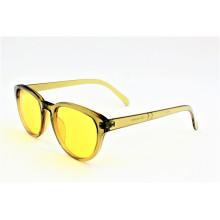 Lunettes de soleil brillantes transparentes en jaune à la mode Vintage Vintage - 16308