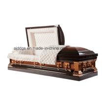 Brun et cuivre Twotone cercueil