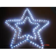 Estrella de la luna para la luz del adorno decora la navidad y el día de fiesta