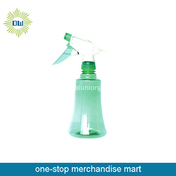plastic bottle with spray and pump