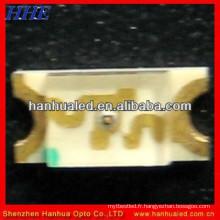 1206 smd led jaune monochrome, couleur vert jaune 1206 SMD LED, 1206 SMD LED FICHE jaune vert couleur