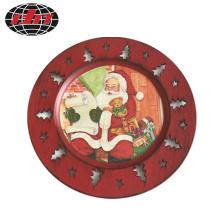 Christmas Plastic Plate with Printing