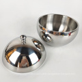 1000ml sanding stainless steel silver ice bowl with lid