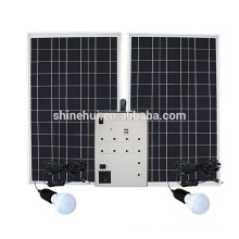 5 to 100W solar panels with home system LED lamp USB mobile output charging
