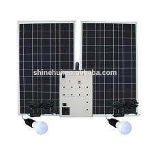 Sistema solar portátil com lâmpada LED Carregamento móvel USB