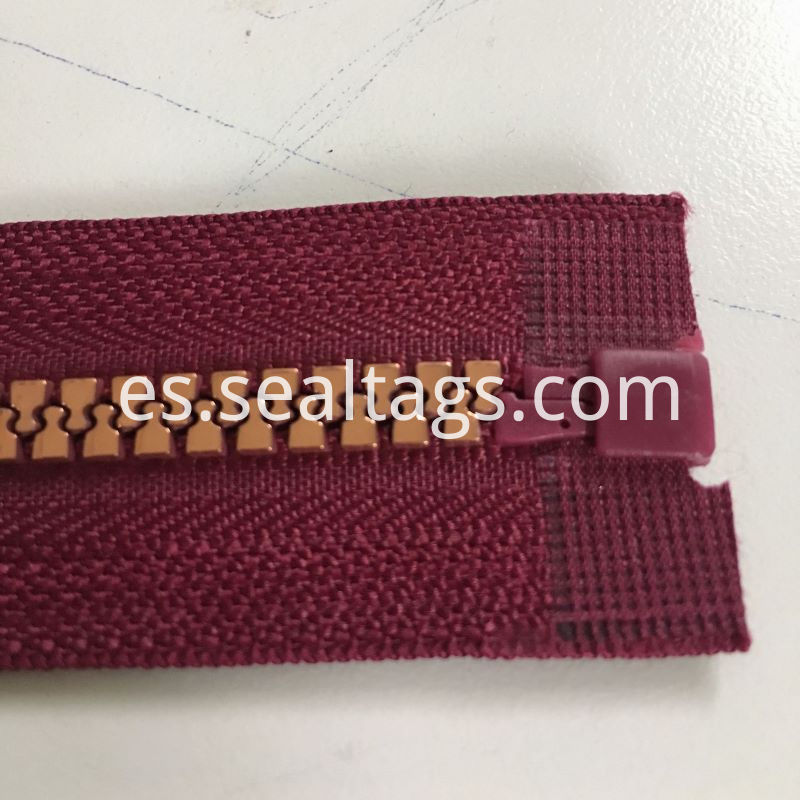 Red Vinyl Zipper