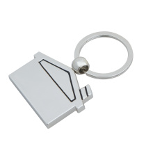 Haus-Form Keychain, kundenspezifischer Schlüsselring (GZHY-KC-022)