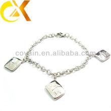 Bracelet en bijoux en acier inoxydable avec pendentif pour fille adorable