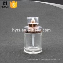 50 ml en gros verre transparent lotion pompe pompe