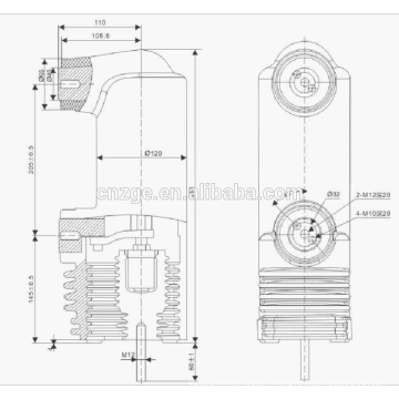11KV embedded pole in circuit breaker / China manufacturer