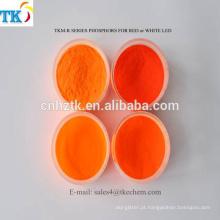 Pó do pigmento do luminóforo dos nitritos do diodo emissor de luz do vermelho usado para a decoração, iluminando o pó do fósforo