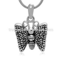 Moda mariposa urna colgante de alta calidad de acero inoxidable cremación colgante venta al por mayor joyería del recuerdo