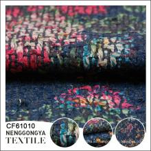 Diseño personalizado Diferentes tipos de poliéster vestido de tela de lana de tweed
