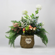 Garden ornaments handmade elegant artificial hanging basket plants