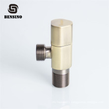 1/2 3/8 Triangle bronze plated quick open water inlet brass angle valve