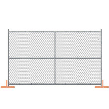 UAS Type construction chain link fencing systems