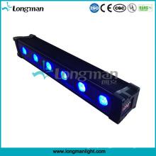 Aprovação de UL Luz de lavagem de parede LED / 6X12W Rgbawuv Luz de bateria sem fio