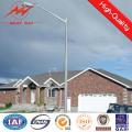 8m galvanizada quente rua poste de luz com um único braço