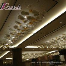Декоративное стекло висит сломанный Цвет подвесной светильник для ресторана