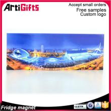 Cheap wholesale hot selling 2d paper flat fridge magnet